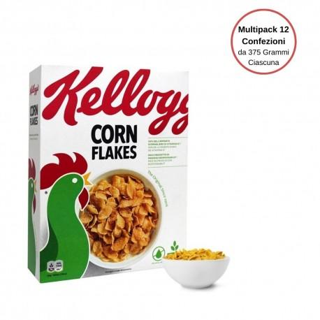 Kellogg's Corn Flakes The Original Multipack Da 12 Confezioni Da 375 Grammi Ciascuna