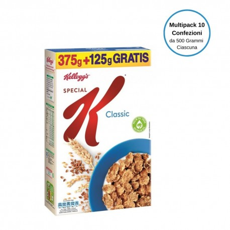 Kellogg's Special K Classic Multipack Da 10 Confezioni Da 500 Grammi Ciascuna