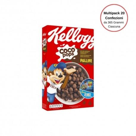 Kellogg's Coco Pops Palline Multipack Da 20 Confezioni Da 365 Grammi Ciascuna