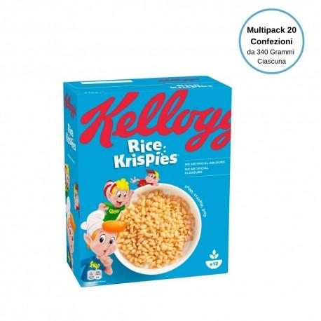 Kellogg's Cereali Rice Krispies Multipack Da 20 Confezioni Da 340 Grammi Ciascuna