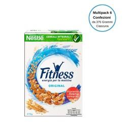 Nestle' Fitness Original Cereali Fiocchi di Frumento Integrale Multipack Da 6 Confezioni Da 375 Grammi Ciascuna