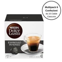 Nescafe' Dolce Gusto Espresso Intenso Caffe' In Capsule Multipack Da 6 Confezioni Da 16 Capsule Ciascuna