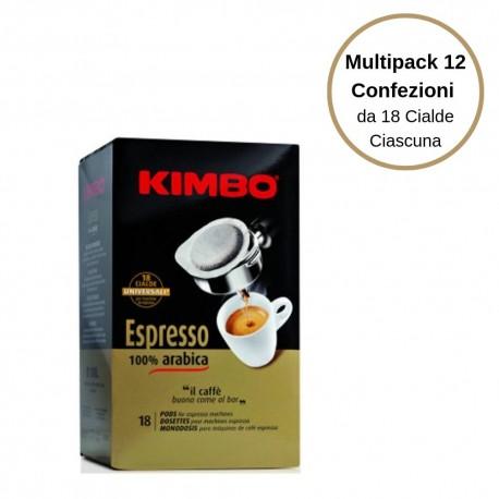 Kimbo Espresso 100% Arabica Caffe' In Cialde Multipack Da 12 Confezioni Da 18 Cialde Ciascuna