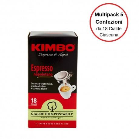 Kimbo Espresso Napoletano Caffe' In Cialde Multipack Da 5 Confezioni Da 18 Cialde Ciascuna