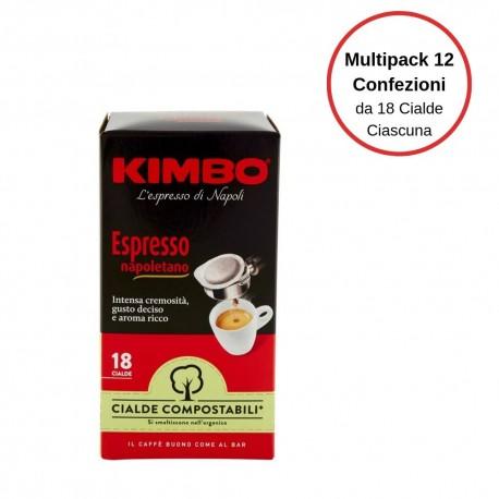 Kimbo Espresso Napoletano Caffe' In Cialde Multipack Da 12 Confezioni Da 18 Cialde Ciascuna