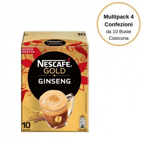 Nescafe' Gold I Golosi Ginseng Multipack da 4 Confezioni Da 10 Bustine Ciascuna