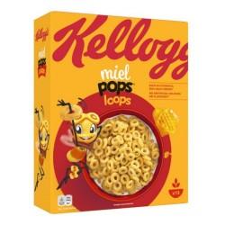Kellogg'S Miel Pops Loops Anellini Al Miele In Confezione Da 375 Grammi