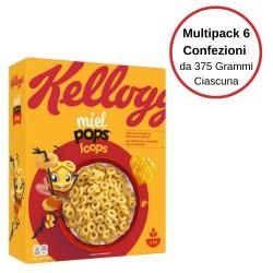Kellogg'S Miel Pops Loops Anellini Al Miele Multipack Da 6 Confezioni Da 375 Grammi Ciascuna