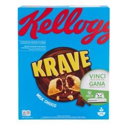Kellogg'S Krave Milk Choco Cereali Ripieni Al Cioccolato Al Latte In Confezione Da 375 Grammi