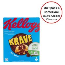 Kellogg'S Krave Milk Choco Multipack Da 6 Confezioni Da 375 Grammi Ciascuna