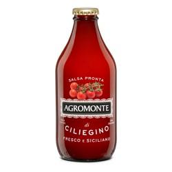 Agromonte Salsa Pronta Di Pomodorino Ciliegino In Bottiglia Da 330 Grammi