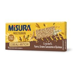 Misura Multigrain Crackers Ai Cereali Soffiati In Confezione Da 350 Grammi Con 10 Monopozioni
