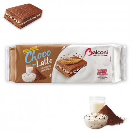 Balconi Choco E Latte In Confezione Da 10 Brioches - 300 Grammi Totali