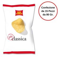 Patatine San Carlo Classica Croccanti Confezione da 15 Pezzi da 80 grammi