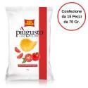 Patatine Piu' Gusto Gusto Pomodorini di Stagione San Carlo Confezione da 15 Pezzi da 70 Grammi