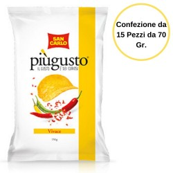 Patatine San Carlo Piu' Gusto Vivace Gustose 15 Buste da 70 Grammi