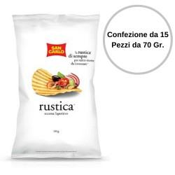 Patatine San Carlo Rustica Confezione da 15 Pezzi da 70 grammi