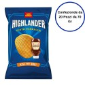 Patatine Highlander Gusto BBQ Barbecue San Carlo Confezione da 20 Pezzi da 70 Grammi