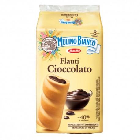 Mulino Bianco Flauti Al Cioccolato In Confezione Da 8 Flauti - 280 Grammi Totali