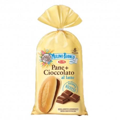 Mulino Bianco Pane+Cioccolato Al Latte In Confezione Da 8 Panini - 300 Grammi Totali