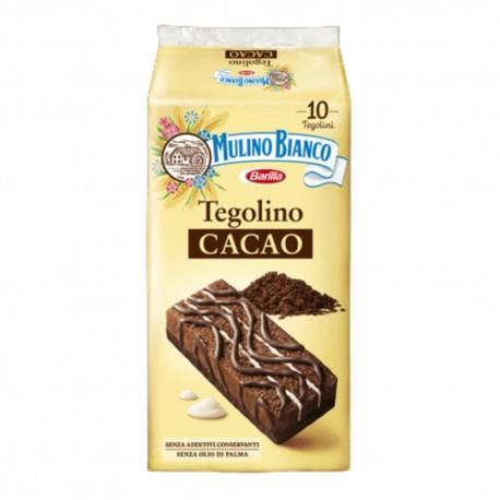 Mulino Bianco Tegolino Al Cacao Con Crema Al Latte In Confezione Da 10 Tegolini - 350 Grammi Totali