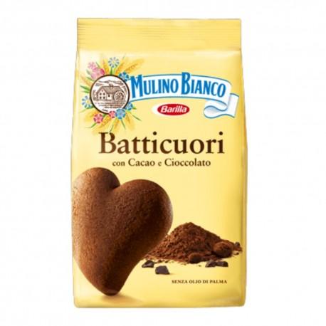 Mulino Bianco Batticuori Con Cacao E Cioccolato In Confezione Da 350 Grammi