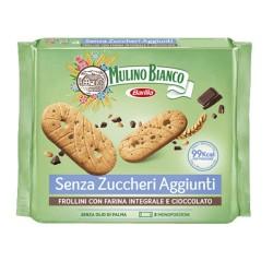 Mulino Bianco Frollini Con Farina Integrale E Gocce Di Cioccolato Senza Zuccheri Aggiunti Confezione 8 Monoporzioni Da 25 Gr
