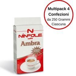 Caffè Ninfole Ambra Confezioni 4 x 250 grammi Miscela Ricca e Cremosa