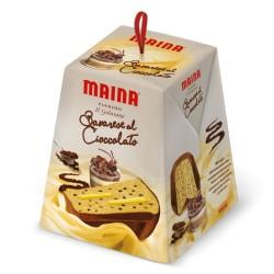 Maina Pandoro Il Golosone Bavarese Al Cioccolato In Confezione Da 750 Grammi