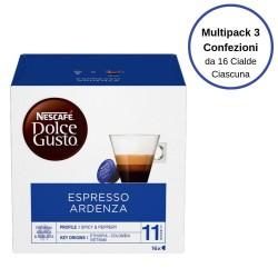 Nescafe' Dolce Gusto Espresso Ardenza Caffe' In Capsule Multipack Da 3 Confezioni Da 16 Capsule Ciascuna