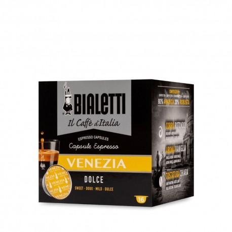 Capsule Espresso Caffe' Bialetti Venezia Gusto Dolce Confezione da 16 Capsule