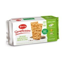 Doria Crackers Semplicissimi  Al Grano Saraceno E Semi Di Chia In Confezione Da 245 Gr