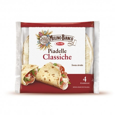 Mulino Bianco Classic Piadelle Pack of 300 Grams 4 Pearls