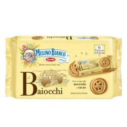 Mulino Bianco Baiocchi In Confezione Da 6 Monoporzioni Da 6 Biscotti Ciascuna - 336 Grammi Totali