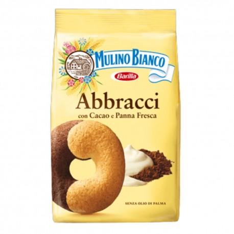 Mulino Bianco Abbracci Con Cacao E Panna Fresca In Confezione Da 700 Grammi