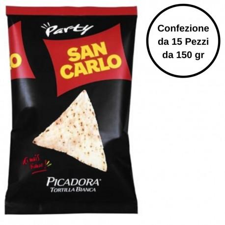 Picadora Tortilla Bianca San Carlo Confezione da 15 Pezzi da 150 Grammi