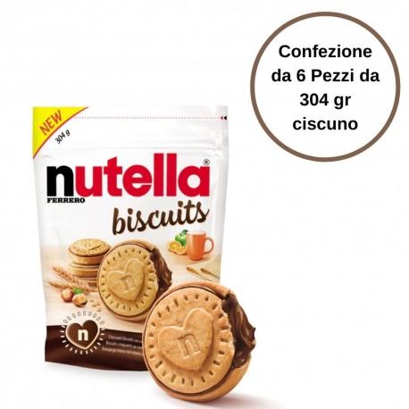 Nutella Biscuits Biscotti ripieni di Nutella Confezione da 6 pezzi da 304 gr