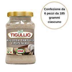 Tigullio Pesto Ricotta Tartufo e Pepe Nero Confezione da 6 Pezzi da 185 grammi
