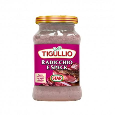 Tigullio Pesto Radicchio e Speck Confezione da 190 grammi