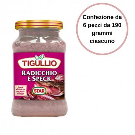 Tigullio Pesto Radicchio e Speck Confezione da 6 Pezzi da 190 grammi