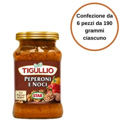 Tigullio Star Pesto Peperoni e Noci Confezione da 6 Pezzi da 190 grammi