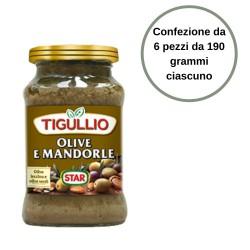 Tigullio Star Pesto Olive e Mandorle Confezione da 6 Pezzi da 190 grammi