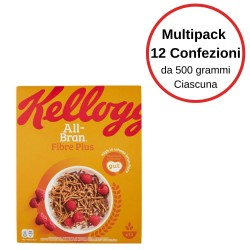 Kellogg's All Bran Plus Bastoncini Multipack Da 12 Confezioni Da 500 Grammi Ciascuna