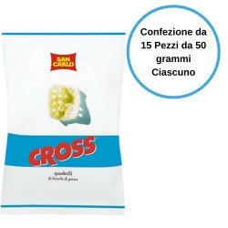San Carlo Patatine Cross Confezione da 15 Pezzi da 50 grammi