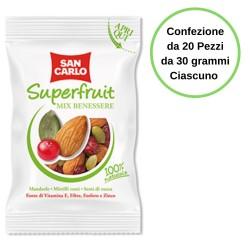 San Carlo Frutta secca Superfruit Mix Benessere Confezione da 20 Pezzi