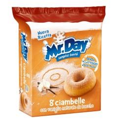 Mr Day Ciambelle Con Vaniglia Naturale Confezione da 8 Cimabelle