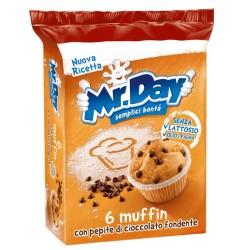 Mr Day Muffin con Gocce di Cioccolato Fondente Confezione da 6 Muffin