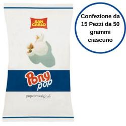 San Carlo Pony Pop Confezione da 15 Pezzi da 50 Grammi Pop Corn