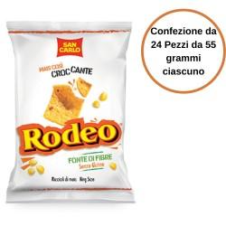 San Carlo Patatine Rodeo al Mais Confezione da 24 Pezzi da 55 grammi