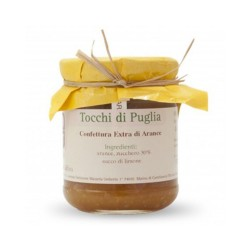 Jam of Oranges in Jar of 260 grams by the organic farm Tocchi di Puglia